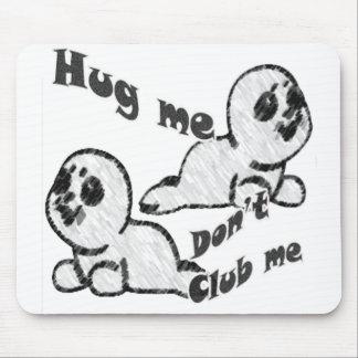 El abrazo, no aporrea el cojín de ratón tapetes de raton