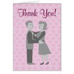 El abrazo retro clásico le agradece las tarjetas