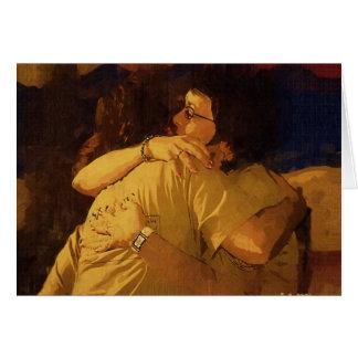 El abrazo tarjeta de felicitación