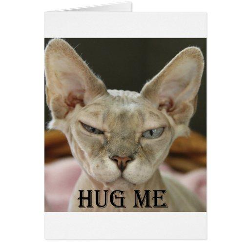 El abrazo yo gato tarjeta de felicitación