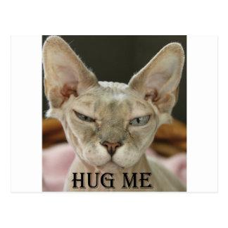 El abrazo yo gato tarjeta postal