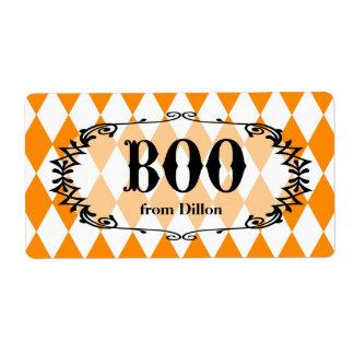 El abucheo de Halloween personalizó la etiqueta Etiquetas De Envío