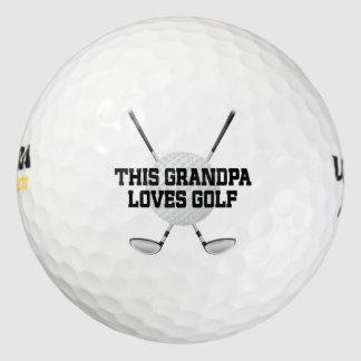El abuelo ama el Golfing de pelotas de golf del Pack De Pelotas De Golf