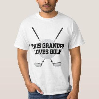 El abuelo ama la camiseta para hombre del golf playeras