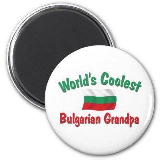 El abuelo búlgaro más fresco imán redondo 5 cm