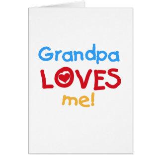 El abuelo de los colores primarios me ama las cami tarjeta de felicitación