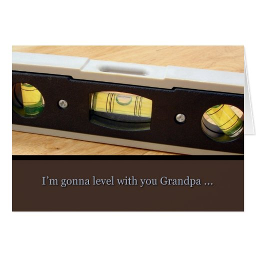 El abuelo del día de padre, nivel con usted carda tarjeta de felicitación