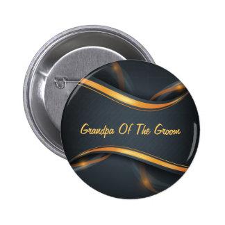 El abuelo del novio (b/g) personalizable pin