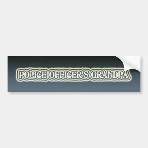 El abuelo del oficial de policía pegatina para auto