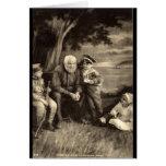 El abuelo dice el vintage 1918 de las historias de tarjeta de felicitación