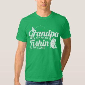 El abuelo es mi Fishin conocido es mi juego Playeras
