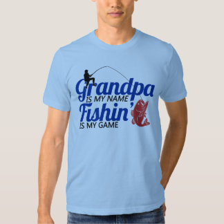 El abuelo es mi Fishin conocido es mi juego Poleras