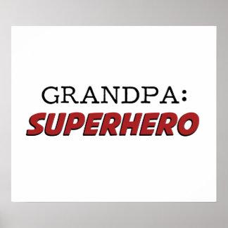 El abuelo es un abuelo del super héroe póster