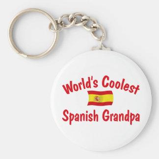 El abuelo español más fresco llavero redondo tipo pin