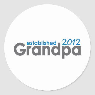 El abuelo estableció 2012 pegatina redonda