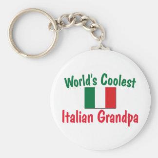 El abuelo italiano más fresco llavero redondo tipo pin