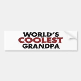 El abuelo más fresco de los mundos pegatina de parachoque