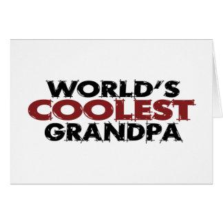 El abuelo más fresco de los mundos tarjeta de felicitación