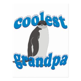 El abuelo más fresco del pingüino tarjeta postal