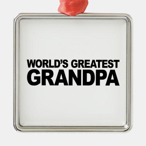 El abuelo más grande del mundo adorno de navidad