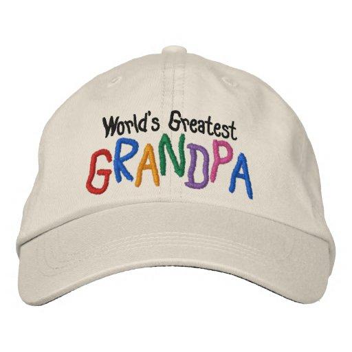 El abuelo más grande del mundo colorido gorra de béisbol bordada