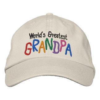 El abuelo más grande del mundo colorido gorras de beisbol bordadas