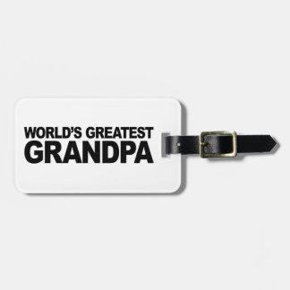 El abuelo más grande del mundo etiquetas bolsas