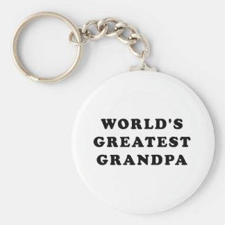 El abuelo más grande del mundo llavero personalizado