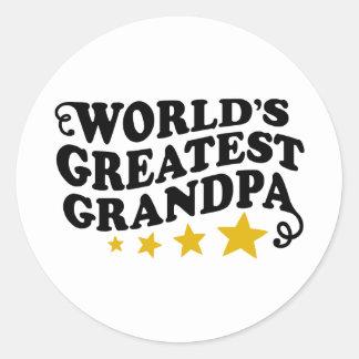 El abuelo más grande del mundo pegatinas redondas