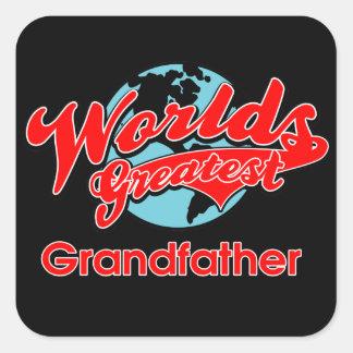 El abuelo más grande del mundo calcomania cuadradas personalizadas