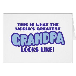 El abuelo más grande del mundo tarjeta