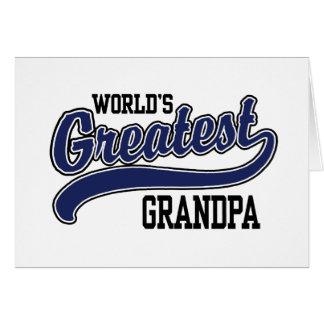 El abuelo más grande del mundo tarjeton