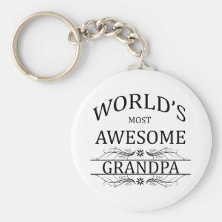 El abuelo más impresionante del mundo llavero redondo tipo pin