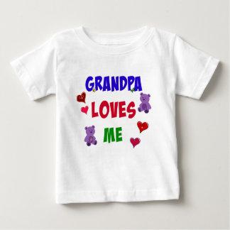 El abuelo me ama playera de bebé