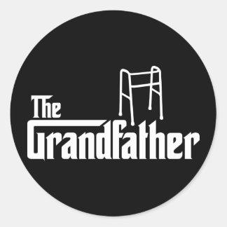 El abuelo pegatinas redondas