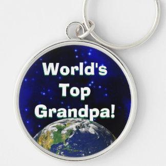 ¡El abuelo superior del mundo! Llavero
