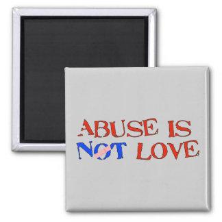 El abuso no es amor imán cuadrado