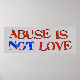 El abuso no es amor impresiones