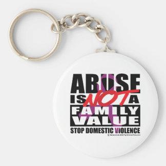 El abuso no es un valor familiar llavero redondo tipo pin