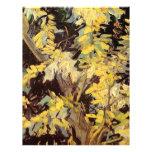 El acacia floreciente ramifica Vincent van Gogh. Membrete Personalizado