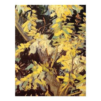 El acacia floreciente ramifica Vincent van Gogh. Plantillas De Membrete