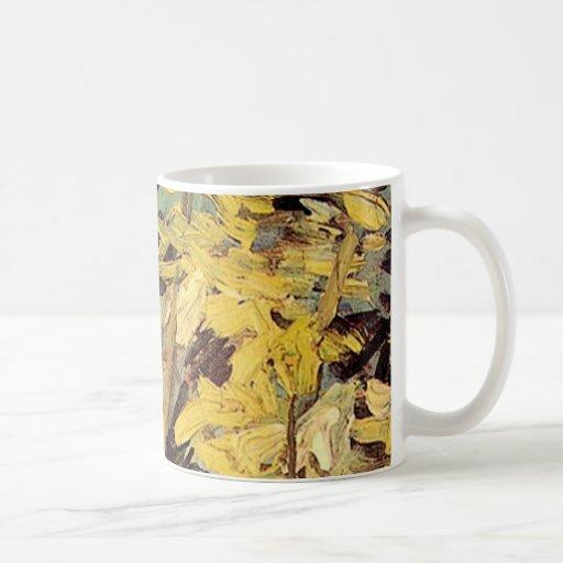 El acacia floreciente ramifica Vincent van Gogh. Taza De Café