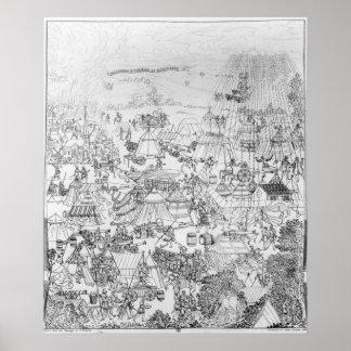 El acampamento del rey Enrique VIII en Marquison Póster