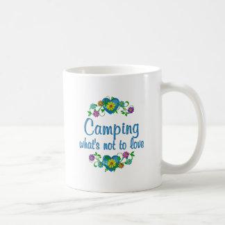 El acampar al amor tazas