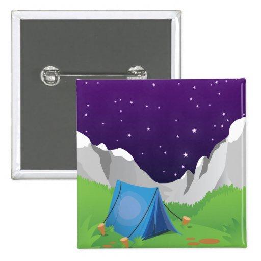 El acampar chapa cuadrada 5 cm