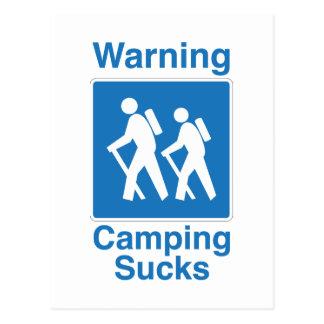 El acampar chupa postal
