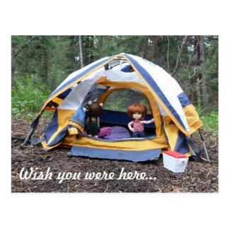 El acampar con Miranda Postales