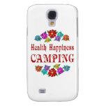 El acampar de la felicidad de la salud