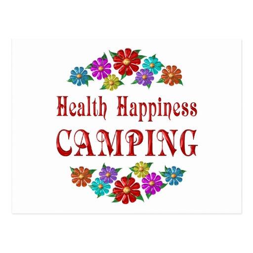 El acampar de la felicidad de la salud postal