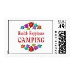 El acampar de la felicidad de la salud sello